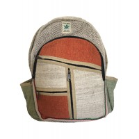 Genuine Himalayan Hemp Backpack/Rucksack / College Bag - Handmade in Nepal - Colourful - THC Free Fair Trade