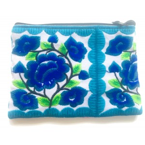 Yao Thai Hill Tribe Flower Embroidered Tribal Purse - Fair Trade