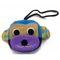 Cute Monkey Design Childrens Coin Purse - Fair Trade