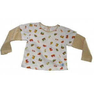 Cute Long Sleeve Soft Baby Cotton Car, Train & Bike Top - Fair Trade