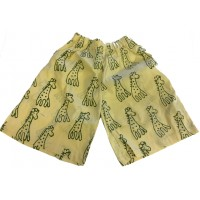 Kids Sandy Classic Giraffe Design Shorts Ages 1 - 5 - Fair Trade