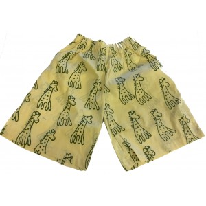 Kids Sandy Classic Giraffe Design Shorts Ages 1 - 5 - Fair Trade