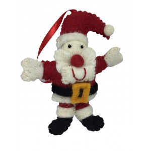 Cute Felt Santa / Father Christmas Tree Decoration - Fair Trade