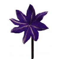 Beautiful handmade large purple chrysanthemum felt flower - fair trade
