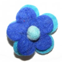 Hand made Felt Daisy Flower Hair Accessory - Fair Trade