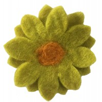 Hand made Felt Chrysanthemum Flower Brooch - Fair Trade