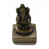 Fair Trade Cast Brass Ganesh Statue / Stamp / Chop Figurine from Kathmandu, Nepal