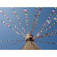 Genuine Large Tibetan Prayer Flags ( Lung Ta) - Fair Trade - Handmade by the Tibetan Buddhist community in Nepal
