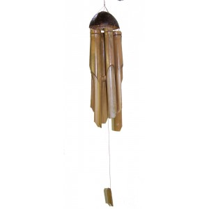 Large Bamboo Wind chime / Windchime for indoor and outdoor use, longest chime 20 inch / 50 cm - Fair Trade
