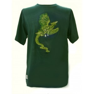 Fair Trade Embroidered Green Dragon T Shirt ( Green T Shirt)