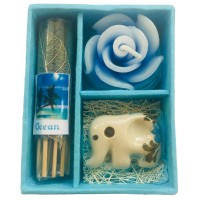 Thai Ocean Incense, Candle & Burner Gift Set - Fair Trade
