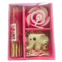 Thai Sakura ( Japanese Cherry)  Incense, Candle & Burner Gift Set - Fair Trade