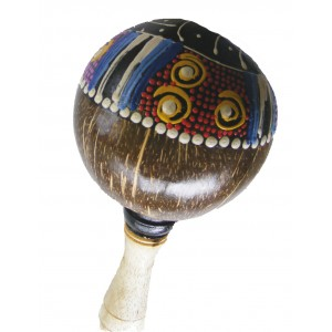 Brightly Painted Coconut Maracas / Shaker