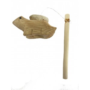 Novelty Wooden Frog Sound Drum / Sound Effect - Great Frog Sound, Fair Trade