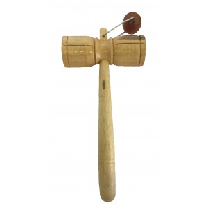 Two Tone Tick Tock Wooden Rattle / Block Shaker/Guiro / Agogo - Great Sound, Fair Trade - Ideal for Kids