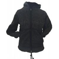 Fair Trade Charcoal Hand Knit Fleece Lined Woollen Jacket