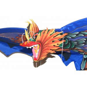 Large Traditional Handmade Blue Balinese Dragon Kite