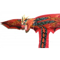 Large Traditional Handmade Red Balinese Dragon Kite
