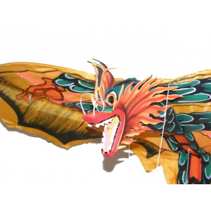 Large Traditional Handmade Yellow Balinese Dragon Kite