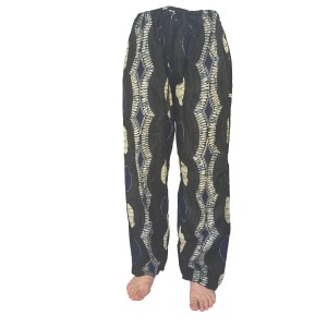 Fair Trade Ethnic African Print Elasticated Cotton ' Baggies ' Trousers