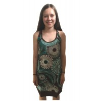 Bold Geometric Classic Shaped Lucy Sun Dress - Fair Trade 100% Cotton