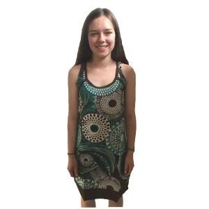 Bold Geometric Classic Shaped Lucy Sun Dress - Fair Trade 100% Cotton
