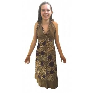 Feminine Purple Paisley Print Yvetta Summer Dress - Fair Trade 100% Cotton