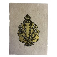 Fair Trade Handmade Nepali Lokta Paper Lord Ganesh Notebook