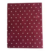 Fair Trade Handmade Nepali Lokta Paper Red Spotty Notepad