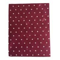 Fair Trade Handmade Nepali Lokta Paper Red Spotty Notepad