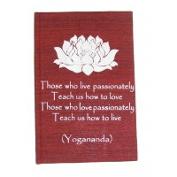 Red Passion Affirmation Hardback Notebook / Journal - Unlined Pure White Paper - 54 Sheets - Fair Trade