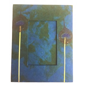 Beautiful Handmade Paper Peacock Feather Traditional Photo Frame - Fair Trade