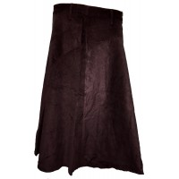Fair Trade Fashionable Corduroy Annie Maxi Skirt - Chocolate Brown