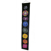 Black Batik Seven Chakra Hanging - Hand made in Bali - Fair Trade