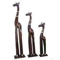 Fair Trade Hand Carved Wooden Standing Giraffe - choices of 3 sizes