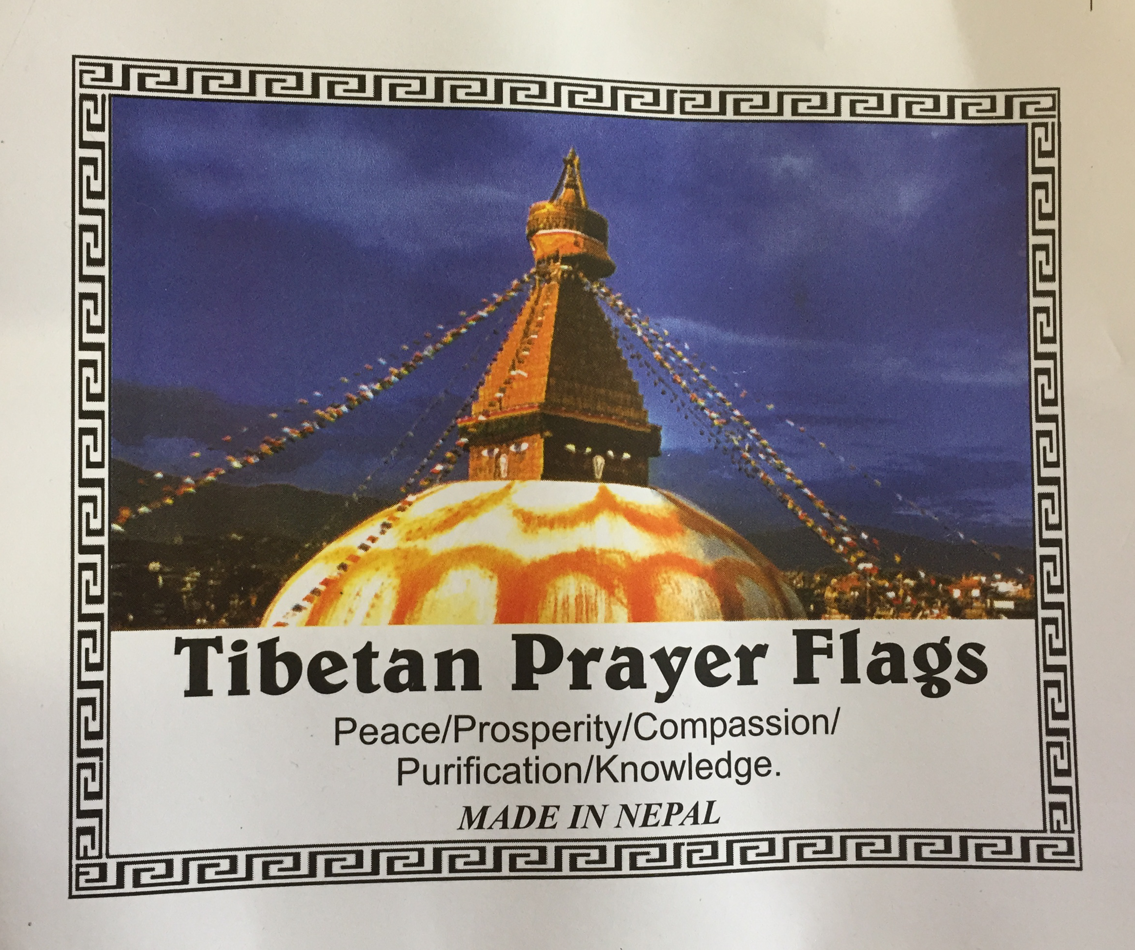 Genuine Large Tibetan Prayer Flags ( Lung Ta) - Fair Trade