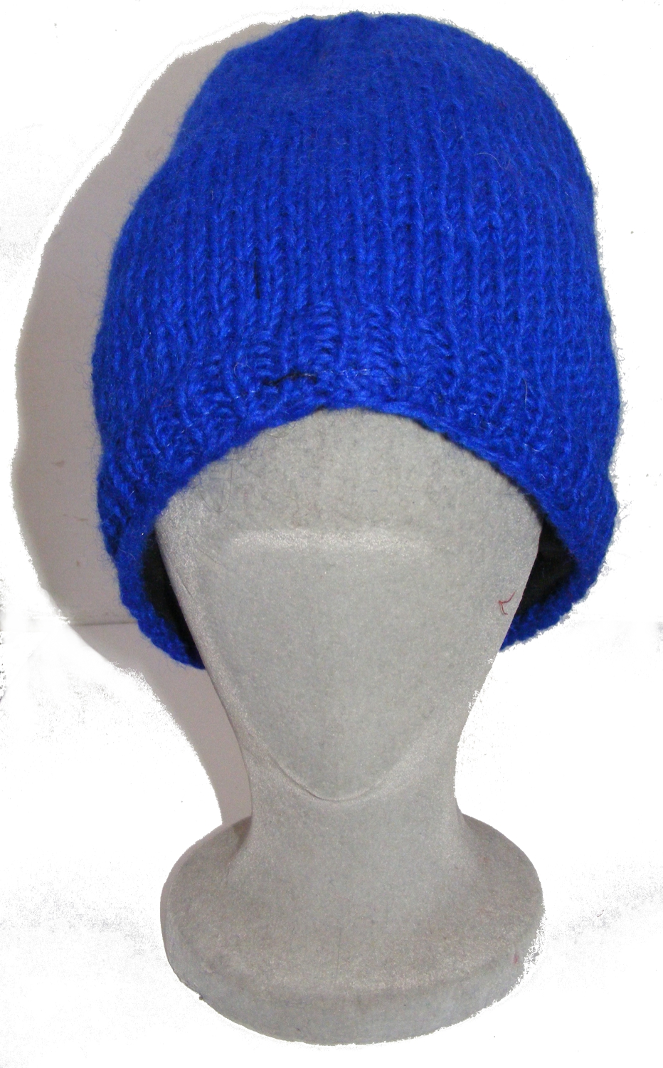 346f507550aed ... Cool Handknitted Woollen Blue Slouch Beanie Hat with fleece lining  ideal for skaters and snowboarders