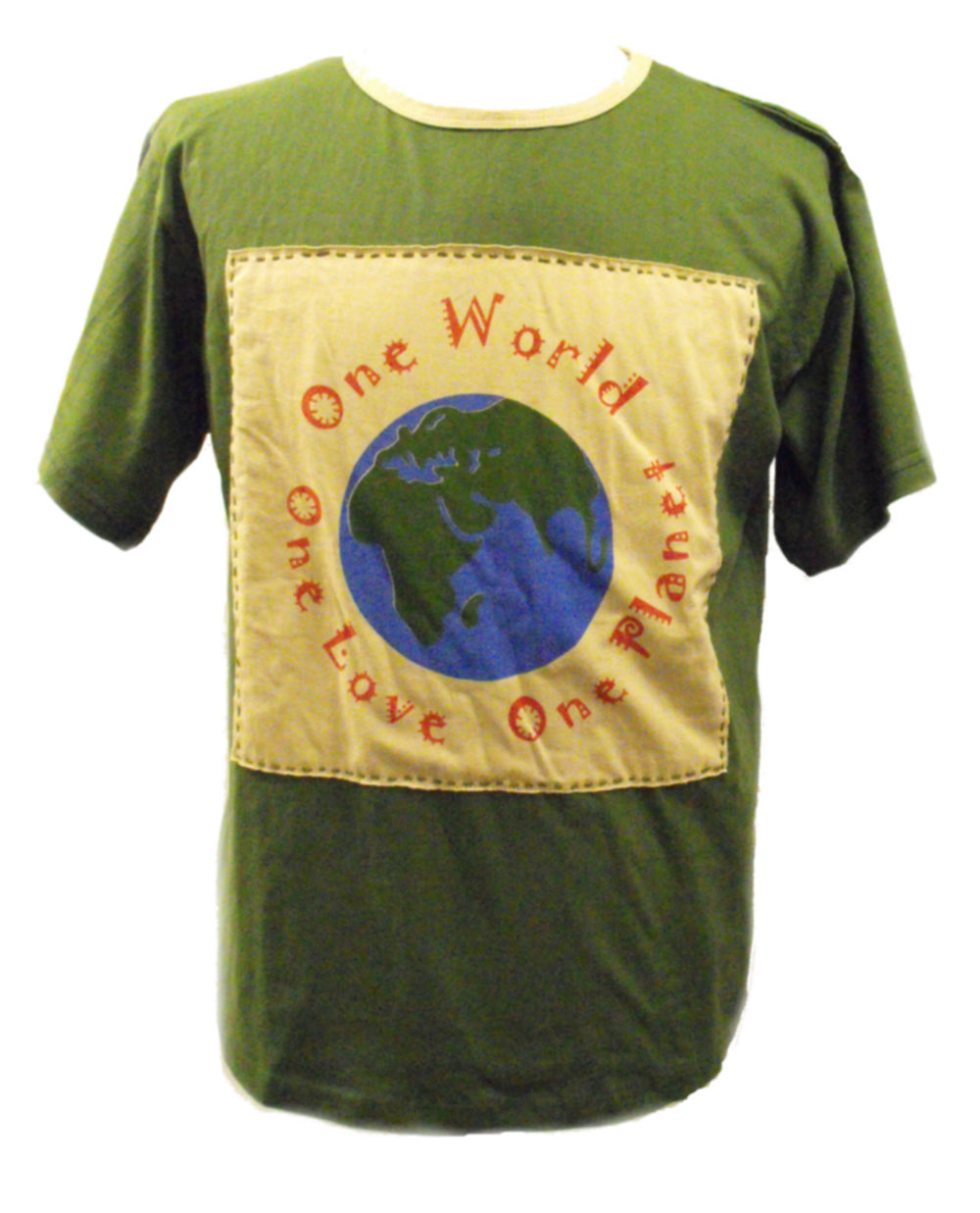 Fair Trade 100 Cotton Green One World One Love One Planet