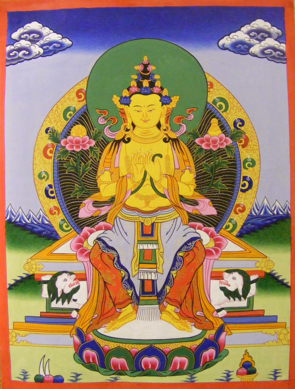 Genuine Original Tibetan Buddhist Thangka Painting - White Tara ...