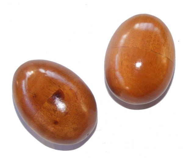 Fair Trade Wooden Shaky Eggs ( Egg Shakers) - pair