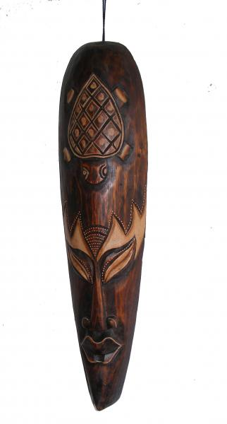 Fair Trade Handcarved 50cm Indigenous Borneo Tribal 'Long' Mask
