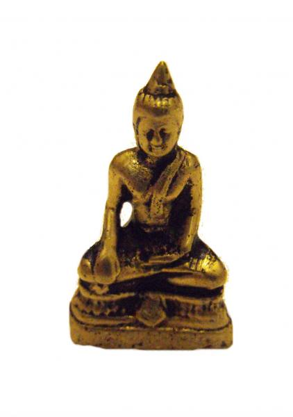 Fair Trade Hand Cast Brass Buddha Figurine from Kathmandu, Nepal