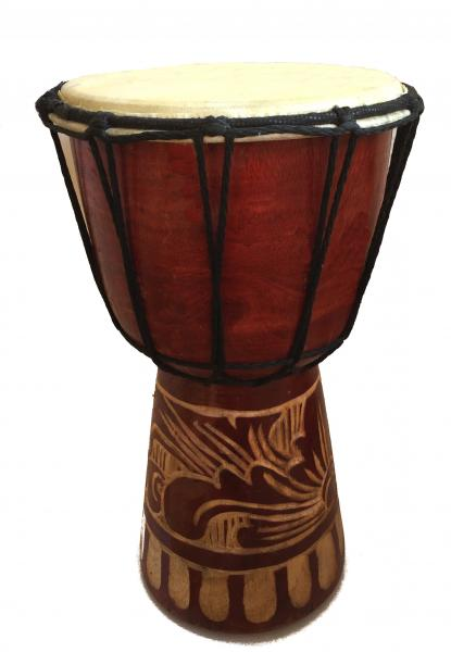 Authentic African Style 25 cm high Hand Carved Djembe Drum - Fair Trade