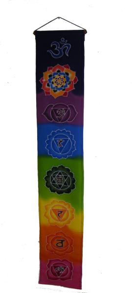 Rainbow Batik Seven Chakra Hanging - Hand made in Bali - Fair Trade