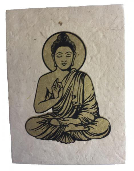 Fair Trade Handmade Nepali Lokta Paper Lord Buddha Notepad