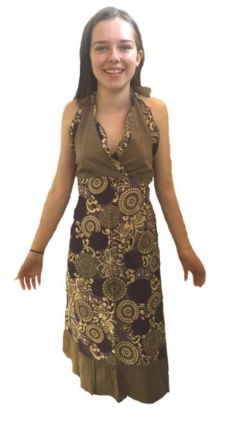 Feminine Purple Paisley Print Yvetta Summer Dress - Fair Trade 100% Cotton