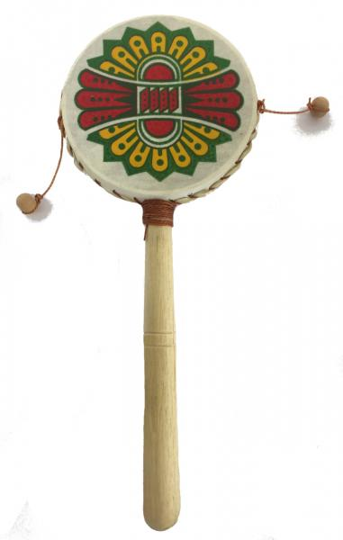 Monkey Drum - Native American Design - Great Sound, Fair Trade, Brightly Painted - Ideal for Kids